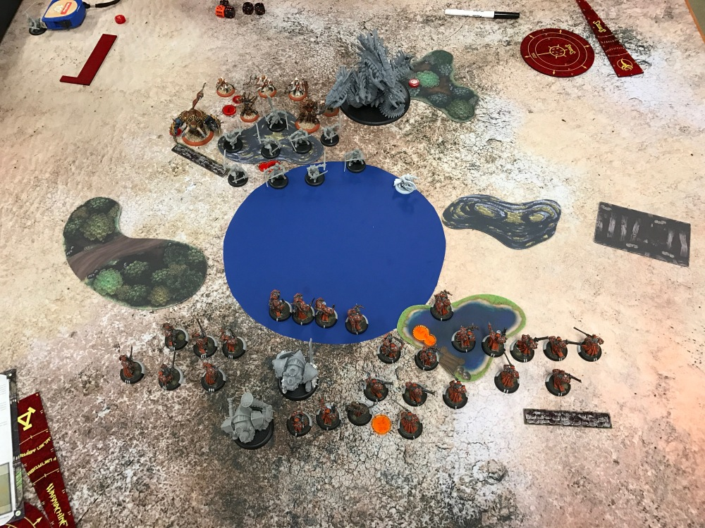 Battle Report Test #1 - End of Turn 1