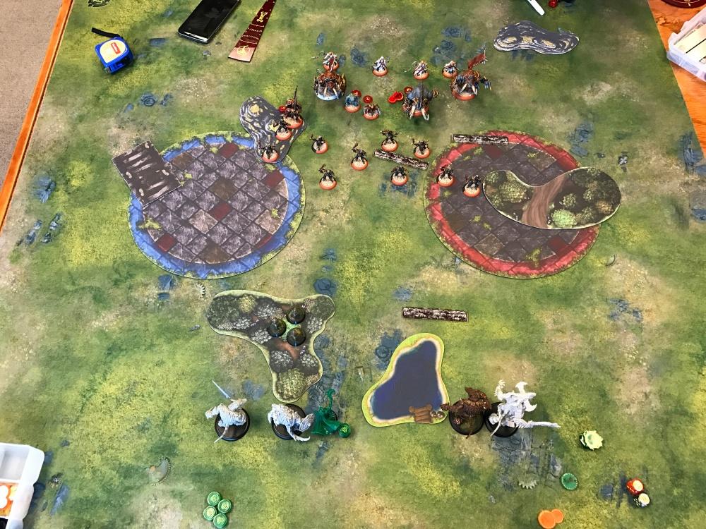 Battle Report Test #5 - End of Skorne Turn 1