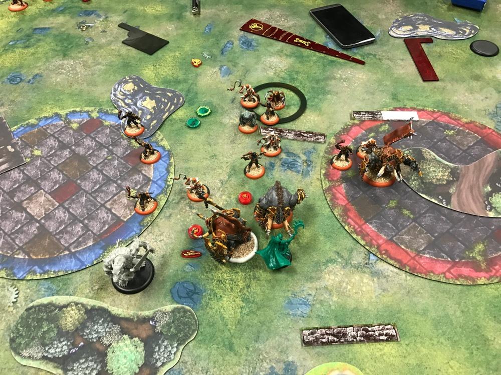 Battle Report Test #5 - End of Skorne Turn 4