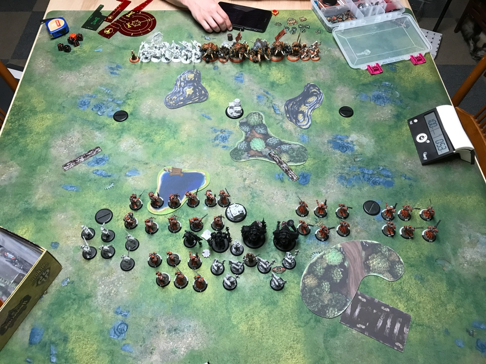 Battle Report #11 - End of Menoth Turn 1