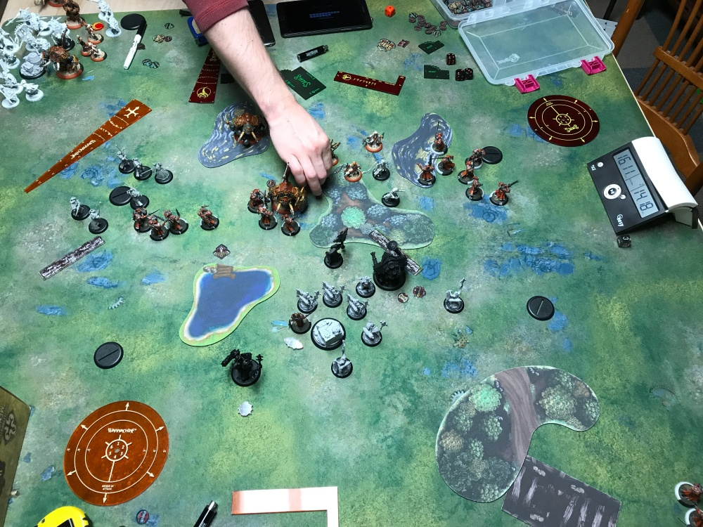 Battle Report #11 - end of Menoth Turn 4