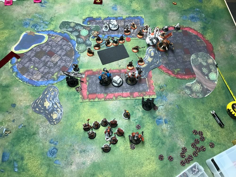Battle Report #13 - End of Skorne Turn 2.JPG