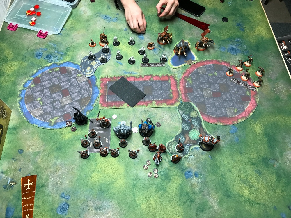Battle Report 14 - End of Menoth Turn 1