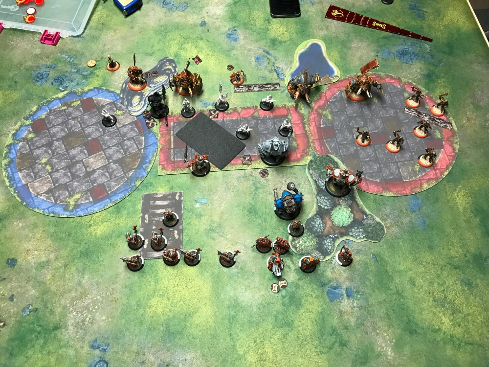 Battle Report 14 - End of Menoth Turn 2
