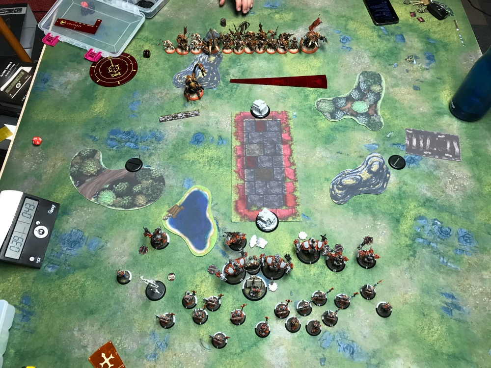 Battle Report 17 - End of Menoth Turn 1.JPG