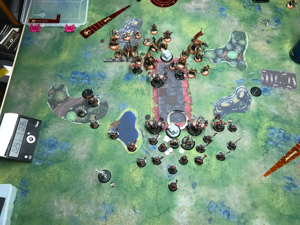 Battle Report 17 - End of Menoth Turn 2.JPG